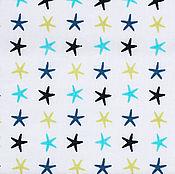 Материалы для творчества ручной работы. Ярмарка Мастеров - ручная работа Ткань Хлопок Морские Звезды Франция. Handmade.