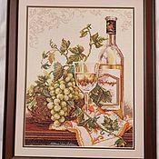 """Картины ручной работы. Ярмарка Мастеров - ручная работа Картина крестиком """"Шардоне"""". Handmade."""