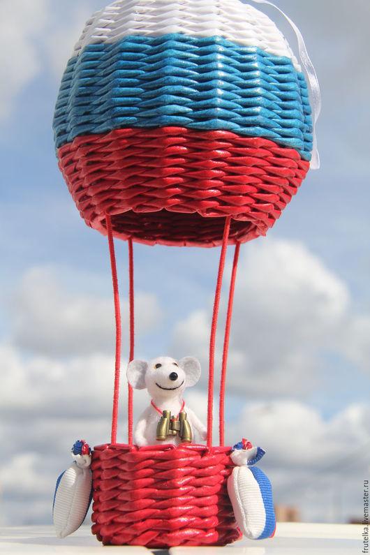 Детская ручной работы. Ярмарка Мастеров - ручная работа. Купить Мышонок патриот (на воздушном шаре, мышонок вытаскивается). Handmade.