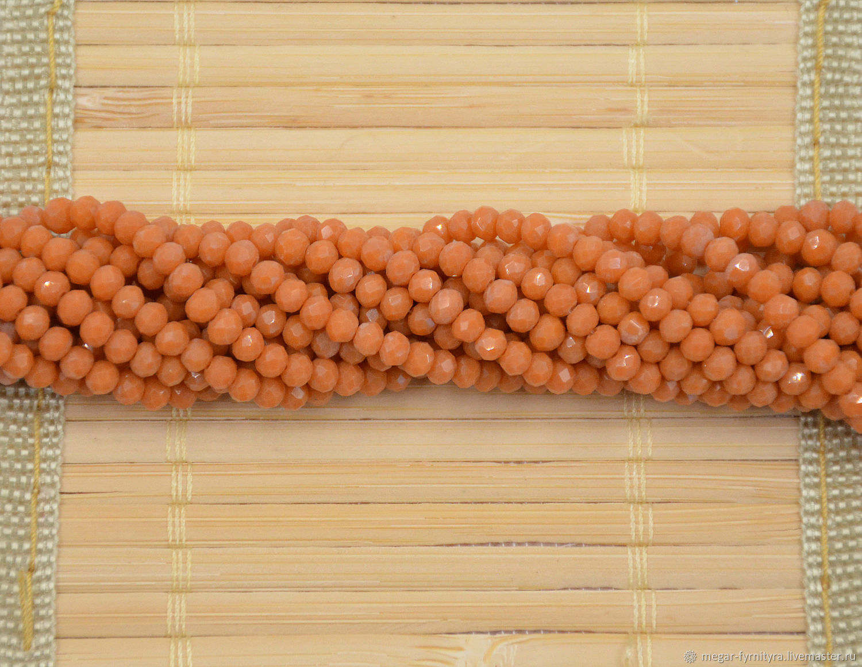10 шт. Рондели 4х3 мм Матовый горчичный, Бусины, Колпино,  Фото №1