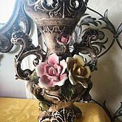 Винтаж handmade. Livemaster - original item Divinely vain. Flower Vase by Capodimonte Italy. Handmade.
