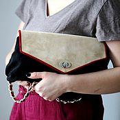 Сумки и аксессуары handmade. Livemaster - original item Suede bag with lid