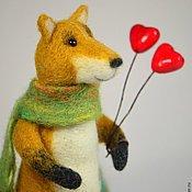 Куклы и игрушки ручной работы. Ярмарка Мастеров - ручная работа Игрушка Влюбленный лис. Handmade.