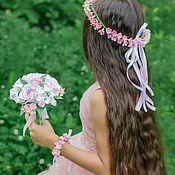 """Свадебный салон ручной работы. Ярмарка Мастеров - ручная работа Комплект для фотосессии """"Розовая мечта"""". Handmade."""