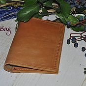Канцелярские товары handmade. Livemaster - original item Leather passport cover