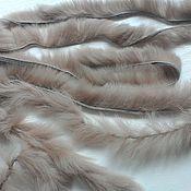 Материалы для творчества handmade. Livemaster - original item Thread fur rabbit fur Rex. Handmade.