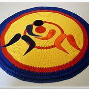 Для дома и интерьера handmade. Livemaster - original item Knitted rug is handmade from cord Wrestling. Handmade.