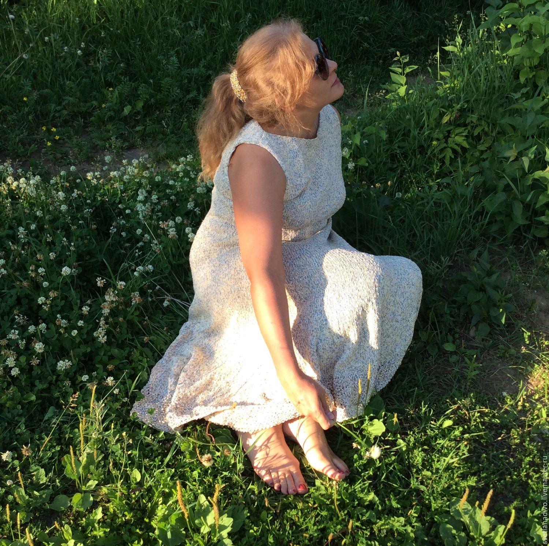 """""""Жемчужный меланж"""" платье, связанное на спицах, Платья, Москва, Фото №1"""