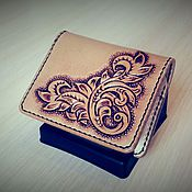 Сумки и аксессуары handmade. Livemaster - original item Of image, business card holder, monogram, personalized wallet. Handmade.