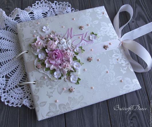"""Свадебные фотоальбомы ручной работы. Ярмарка Мастеров - ручная работа. Купить Фотоальбом """"Нежный ангел"""". Handmade. Бледно-розовый, фотография"""