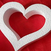 Материалы для творчества handmade. Livemaster - original item Heart frame base foam 15 cm. Handmade.