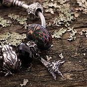 """Украшения ручной работы. Ярмарка Мастеров - ручная работа """"Куриная лапка"""" серебряная бусина-подвеска для браслетов. Handmade."""