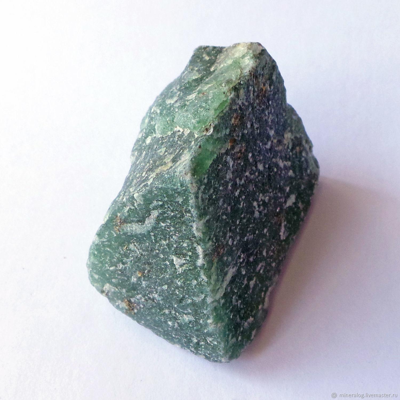 Авантюрин фукситовый, натуральный минерал, зеленый камень, Минералы, Москва, Фото №1