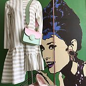 Одежда handmade. Livemaster - original item Striped dress. Handmade.