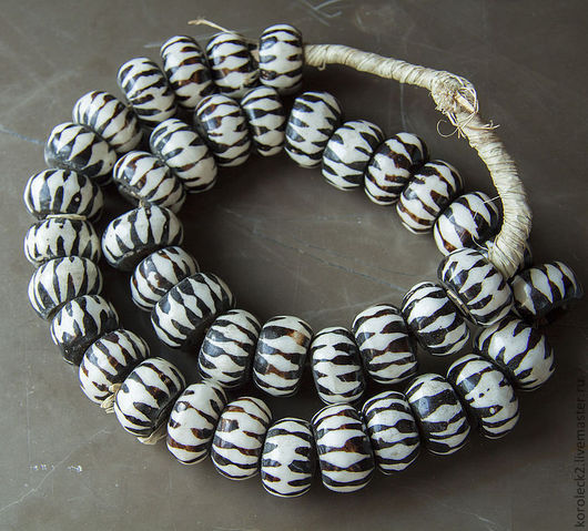 Для украшений ручной работы. Ярмарка Мастеров - ручная работа. Купить Крупные костяные бусины-кольца из Кении.. Handmade.
