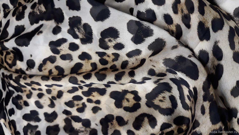 Silk chiffon D & G-leopard print, Fabric, Moscow,  Фото №1