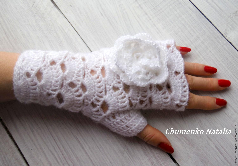 перчатки вязанные связать