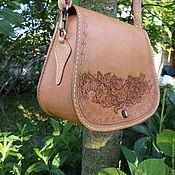 Сумки и аксессуары handmade. Livemaster - original item Women`s handbag with Russian ornament made of genuine leather.. Handmade.