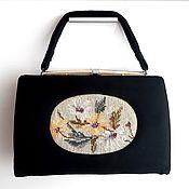 Винтаж handmade. Livemaster - original item Antique bag with tapestry embroidery Flowers,USA,50s-60s. Handmade.