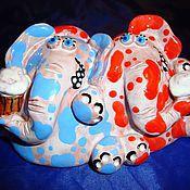 """Для дома и интерьера ручной работы. Ярмарка Мастеров - ручная работа """"Теплые"""" слоники. Handmade."""