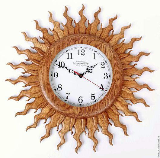 """Часы для дома ручной работы. Ярмарка Мастеров - ручная работа. Купить Большие настенные часы """"Солнце"""". Handmade. Часы настенные"""