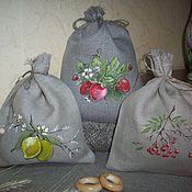 Для дома и интерьера handmade. Livemaster - original item A set of three bags for tea,herbs,coffee painting.. Summer!!. Handmade.