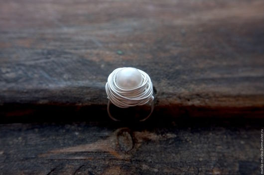 """Кольца ручной работы. Ярмарка Мастеров - ручная работа. Купить Кольцо с жемчужиной """"Муза"""". Handmade. Кольцо, кольцо из проволоки"""