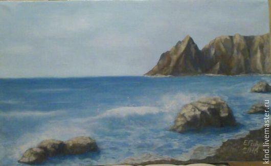 Пейзаж ручной работы. Ярмарка Мастеров - ручная работа. Купить Берег моря. Handmade. Синий, море, картина маслом