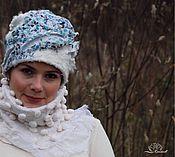 Аксессуары ручной работы. Ярмарка Мастеров - ручная работа Зима в синий горох. Handmade.