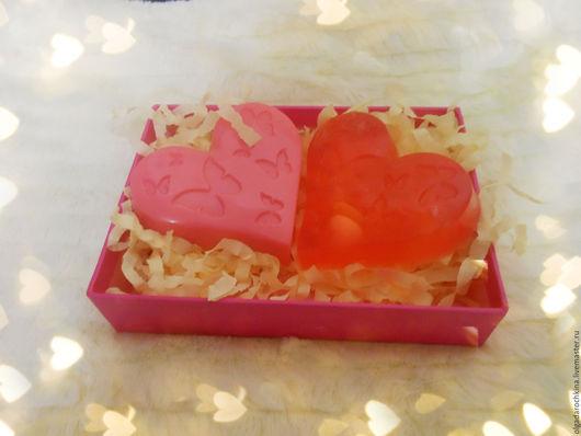 Мыло ручной работы. Ярмарка Мастеров - ручная работа. Купить Набор Влюбленные сердца. Handmade. Сердце, мыло ручной работы