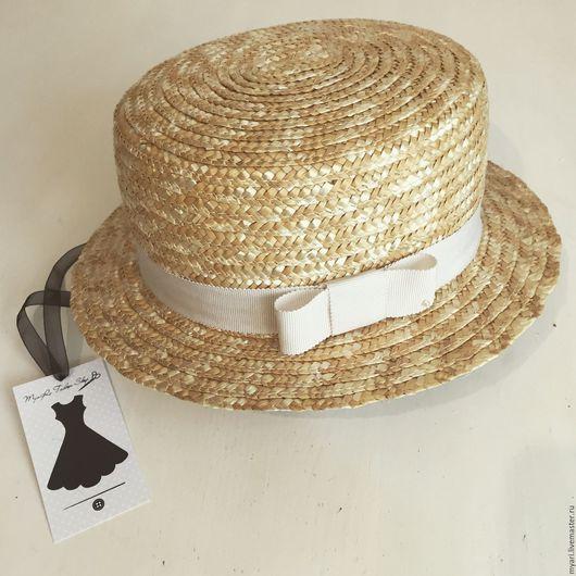 """Шляпы ручной работы. Ярмарка Мастеров - ручная работа. Купить Шляпка """"Канотье"""". Handmade. Бежевый, канотье, шляпка женская"""