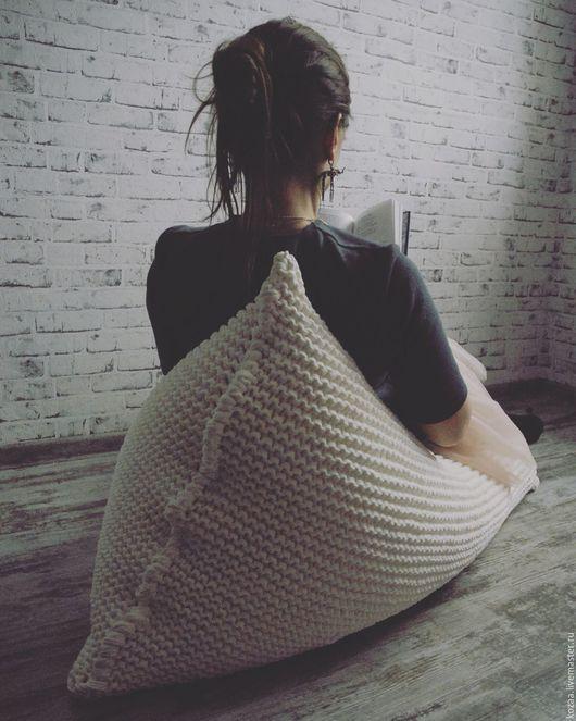 """Мебель ручной работы. Ярмарка Мастеров - ручная работа. Купить Вязаный пуф-лежанка Kozaa's bags """"Sweet Dreams"""". Handmade."""