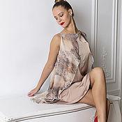 Одежда ручной работы. Ярмарка Мастеров - ручная работа Кремовое Шелковое платье. Handmade.