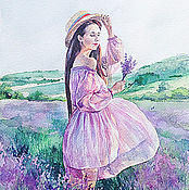 Картины и панно handmade. Livemaster - original item Women`s watercolor portrait from a photo. Handmade.