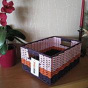 Для дома и интерьера ручной работы. Ярмарка Мастеров - ручная работа Плетёная корзинка. Handmade.