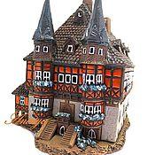 Для дома и интерьера ручной работы. Ярмарка Мастеров - ручная работа Керамический домик подсвечник. Handmade.
