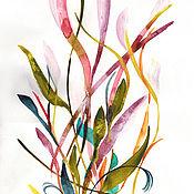Картины и панно ручной работы. Ярмарка Мастеров - ручная работа Неизвестный Цветок 3 -  абстракция  оригинал акварель. Handmade.