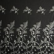 Вышивка на сетке купон (белый) бисер, стеклярус