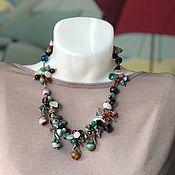 Украшения handmade. Livemaster - original item Jewelry set made of natural stones: a short necklace and bracelet. Handmade.