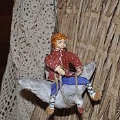 """Подарки к праздникам ручной работы. Ярмарка Мастеров - ручная работа Ватная игрушка """" Гуси - лебеди """". Handmade."""