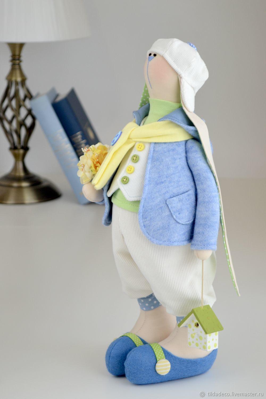 Easter Textile Bunny ( rabbit ) Oliver, Tilda Toys, Kiev,  Фото №1