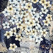 Картины и панно handmade. Livemaster - original item Panels with white flowers Spring mood. tameran.. Handmade.