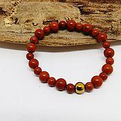 Украшения handmade. Livemaster - original item Bracelet of red Jasper. Handmade.