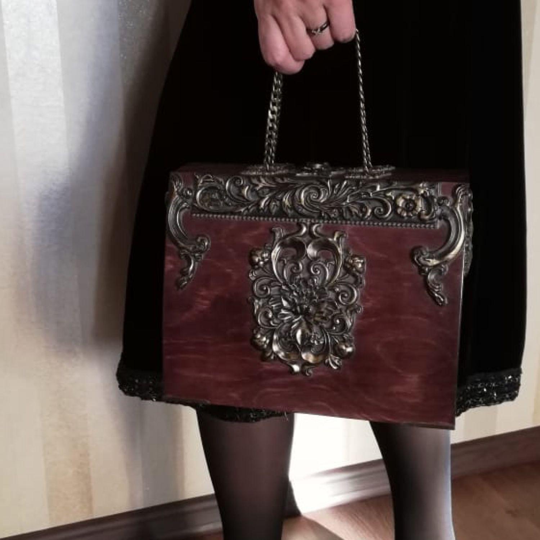57885b35053e Женские сумки ручной работы. Ярмарка Мастеров - ручная работа. Купить  Деревянный ридикюль.