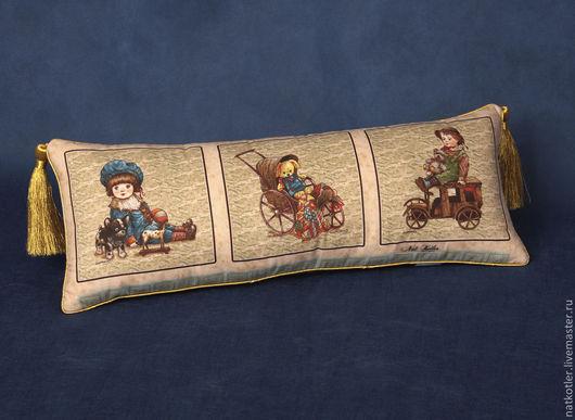 Текстиль, ковры ручной работы. Ярмарка Мастеров - ручная работа. Купить Подушка СТАРЫЕ ИГРУШКИ. Handmade. Подушка, ретро, для детей