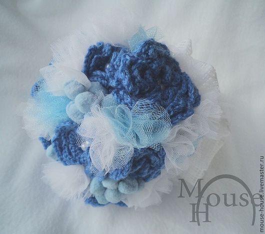 Свадебные цветы ручной работы. Ярмарка Мастеров - ручная работа. Купить Букет невесты Зимний синий. Handmade. Синий