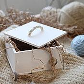 Ящики ручной работы. Ярмарка Мастеров - ручная работа Ящик деревянный с крышкой. Handmade.
