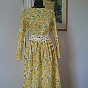 Одежда ручной работы. Ярмарка Мастеров - ручная работа Платье Лимоны Хлопок 100%. Handmade.