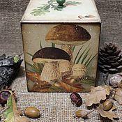"""Для дома и интерьера ручной работы. Ярмарка Мастеров - ручная работа Короб """"По грибы """". Handmade."""