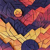 Картины и панно ручной работы. Ярмарка Мастеров - ручная работа Объёмная бумажная мозаика «Иной ландшафт». Handmade.